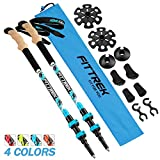 FitTrek Trekking Poles - Carbon Fibre Walking Poles - Hiking Poles Telescopic