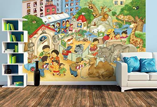 Premium Foto-Tapete Kleiner Zoo (verschiedene Größen) (Size L   372 x 248 cm) Design-Tapete, Vlies-Tapete, Wand-Tapete, Wand-Dekoration, Photo-Tapete, Markenqualität von ERFURT