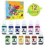 Coloranti Alimentari - 12 Colori x 10ml di Colorante Alimentare Liquido per Cuocere, Decor...