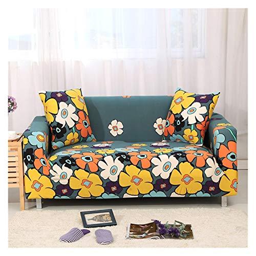 NEWRX Floral Patry Sofá Cubierta Sofá Elástico Sofá Universal Sofá Sección Sección Sofá Cubierta de Esquina para Sillones de Muebles (Color : Color 20, Specification : 1 Seat 90 140cm)