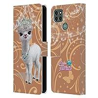Head Case Designs オフィシャル ライセンス商品 Animal Club International Llama ペット・ロイヤルティーズ Motorola Moto G9 Power 専用レザーブックウォレット カバーケース