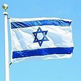 KINTRADE 3x5 Piedi Israel Bandiera Nazionale Stella ebraica Magen David Bandiera israeliana del Paese