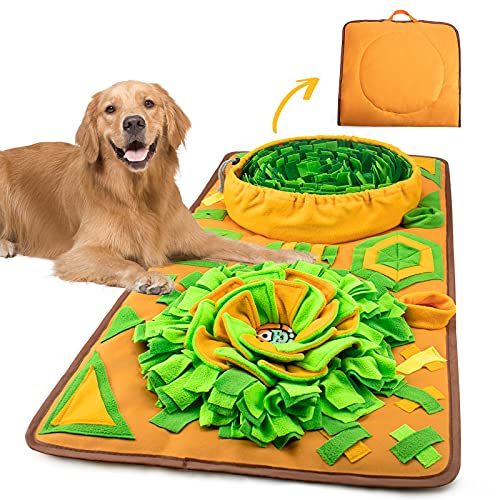 AWOOF Snuffle Mat for Large Dogs,Dog Snuffle Mat Interactive Feed Game for Boredom Stress Relief IQ Training Dogs Sniffing Mat Encourages Natural Foraging Skills for Small Medium Large Dogs