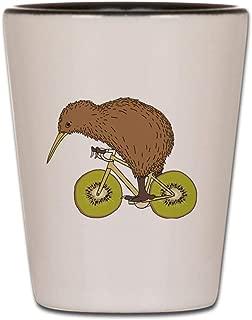 CafePress Kiwi Riding Bike With Kiwi Wheels Shot Glass, Unique and Funny Shot Glass