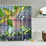 None brand Tiere Muster Dinosaurier, Frosch, Giraffe, Schildkröte Duschvorhang Dekoration Badezimmer wasserdichte Polyester Gardinen-180 cm x 220 cm