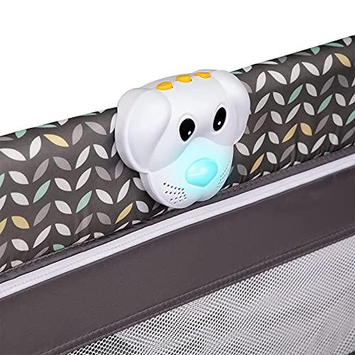 Lionelo Sven Plus 2in1 Reisebett Baby Laufstall Baby ab Geburt bis 15kg, Moskitonetz, Tragetasche, zusammenklappbar (Grey Scandi) - 9