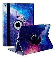iPad 8 ケース 2020 iPad 10.2 ケース 第7世代 2019モデル クリア 傷防止 オートスリープ/ウェイク 軽量 360度回転式 手帳型タブレットケース Apple iPad 10.2インチ(2020/2019) 用ハードカバー ケース(星空)