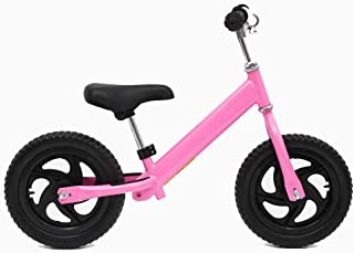 Alance Bike for Kids and Toddlers - No Pedal Sport Training Bicycle for Children Ages 3,4,5,Pink,12