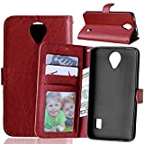 Docrax Compatible with Huawei Y635 Case, Premium PU Leather