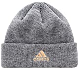 adidas Women's Team Issue Fold Beanie, Heather Grey/Rose Gold, ONE SIZE