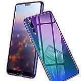 Conie TC8973 Twilight Hülle Kompatibel mit Huawei Mate 10 Pro, Farbwechsel Hülle Effekt Handycover Rückschale Hülle Schutzhülle rutschfest Kantenschutz Mehrfarbig Violett