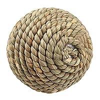 自然の草と籐のオウムのおもちゃ、健康で安全で無毒なオウムのおもちゃ、インコのウサギのためのオウムその他の小さな鳥