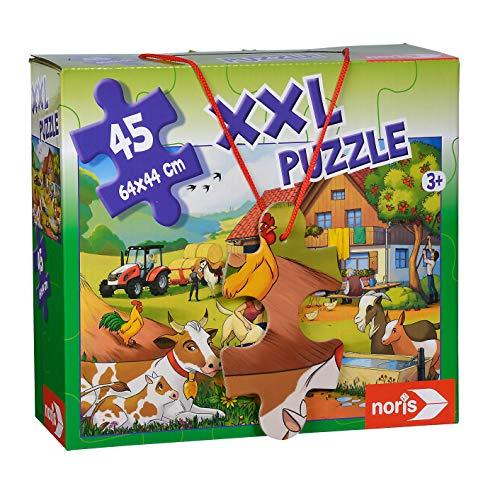 Noris 606031565 XXL Riesenpuzzle, Urlaub auf dem Bauernhof - mit 45 Teilen (Gesamtgröße: 64 x 44 cm) - für Kinder ab 3 Jahren