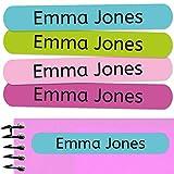 50 Etichette Adesive Personalizate per contrassegnare libri e portapranzo. Misura 6 x 1 cm. Colore 9