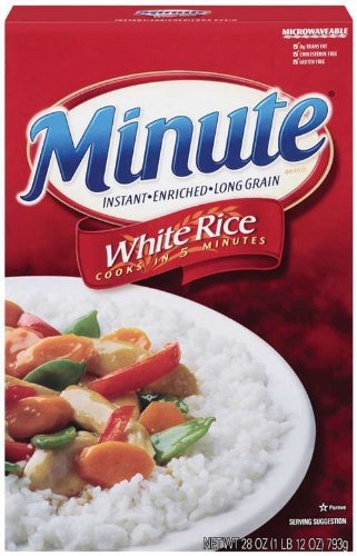 Minute 4 years warranty Rice Long Grain White Popular products Box Pack 28oz 4 of
