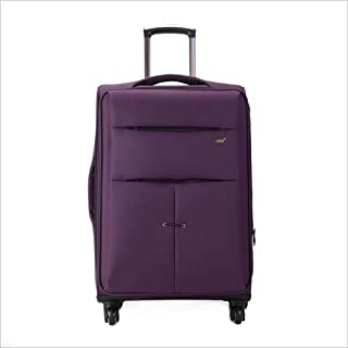 """Ysswjzz 28"""" Super Lightweight 4 Wheel Spinner Check-in Hold Luggage Suitcase Travel Trolley Case (Color : Purple)"""