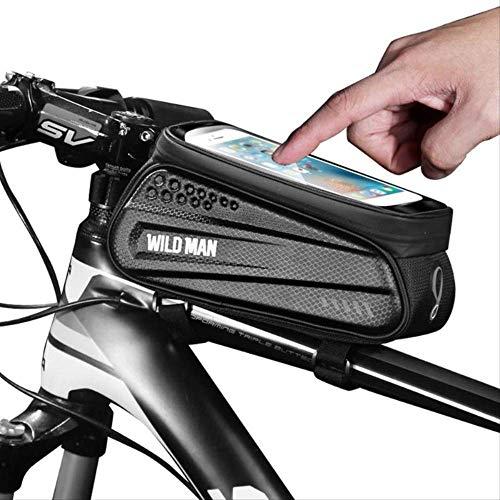 Bolsas Para Teléfono Para Bicicleta Bolsas Para Bicicleta Mtb A Prueba De Agua Pantalla Táctil Para Bicicleta Bolsa De Tubo Superior Soporte Para Marco Accesorios Para Bicicleta Para Teléfono De 6.5 P