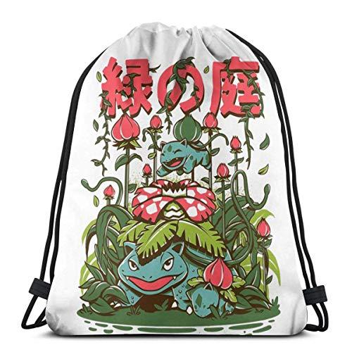 WH-CLA Drawstring Bags The Secrect Garden Anime Print Bolsas con Cordón Deporte Gimnasio Al Aire Libre Casual Mujeres Cinch Bolsas Mochila con Cordón Fitness Hombres Regalo Yoga Único