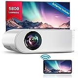 YABER Proiettore WiFi, 5800 Lumens Mini Videoproiettore Portatile 1080P Full HD[Schermo proiezione...