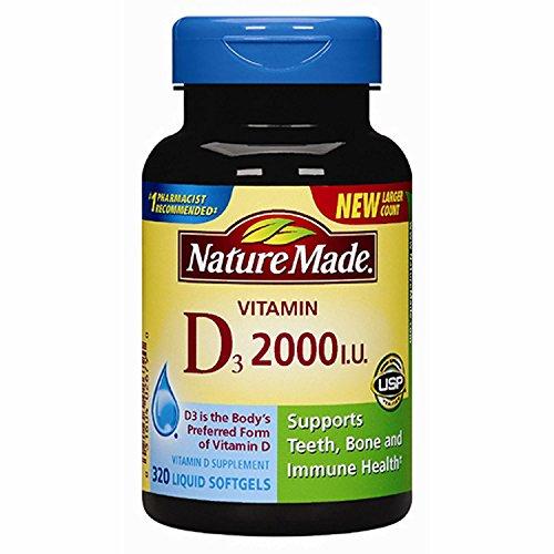 Nature Made Vitamin D3 2000iu 320 Ct. Soft Gels