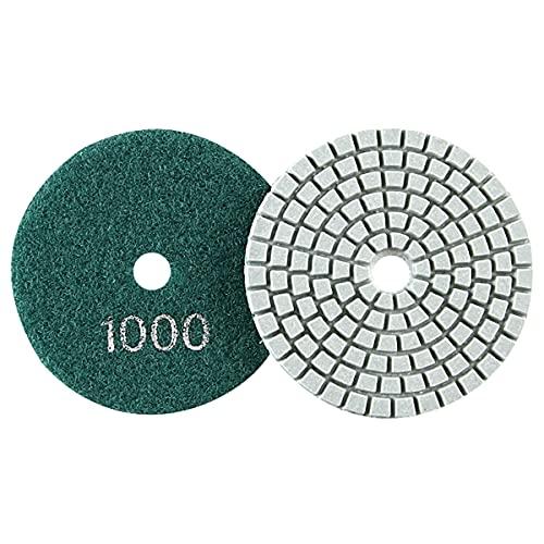 LEISHENT Almohadillas De Pulido De Diamante para Pulidora O Pulidora De Piso De Mármol De Hormigón De Piedra De Granito, para Pulidora Húmeda,4 Pulgadas, 1 Unids,1000Grit