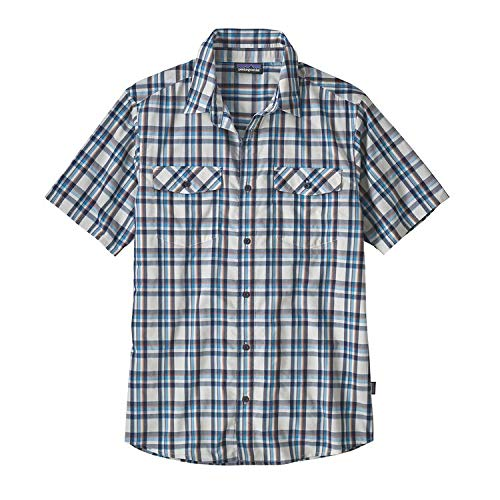 Patagonia M's High Moss Chemise, Homme, Anchor Birch Blanc, M