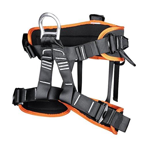 Professionelle Klettergurte Sicherheitsgurt Baumpfleger mit Einstellbar Taille für Bergsteigen Klettern Outdoor Orange