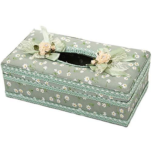 Kdekifn La caja del tejido creativo for el dormitorio Boroes escritorios mesas coche de almacenamiento caja de pañuelos de papel sostenedor de la caja rectangular for el hogar decoración de la oficina