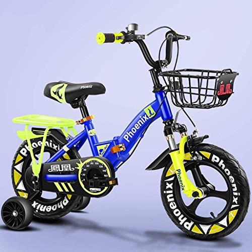 WLD Multifunctionele One Wheel Comfort Seat Kinderfiets, multifunctioneel, 4 kleuropties, beste keuze voor jongens en meisjes 14 Zoll blauw