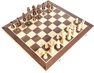 مجموعة رقعة شطرنج خشبية مغناطيسية محمولة قابلة للطي بقياسات عالمية للحفلات ونشاطات العائلة من فيست نايت