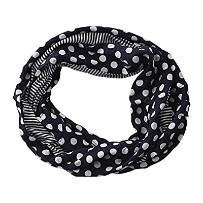 Tickled Pink Women's Game Day Sports Team Apparel Scarf or Wrap, Stripes Infinity Loop