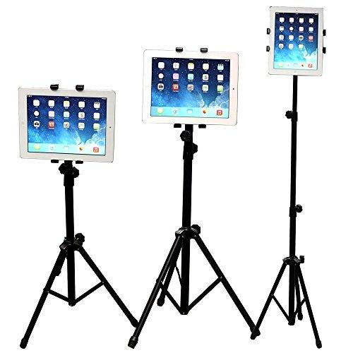 WER Soporte Tablet, Universal Soporte Trípode Ajustable de 360° Giratorio SoporteTelescopico para iPad/iPad2 Mini y Otras Tabletas de 7-10 Pulgadas