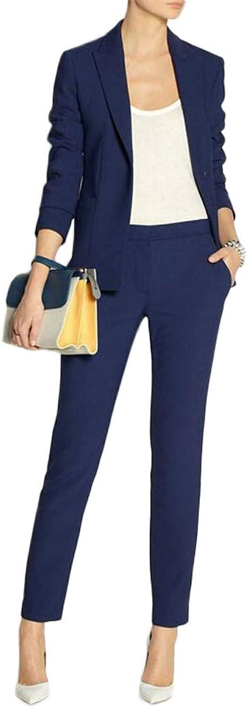 Women Suits 2 Piece Set Navy bluee Blazer Suits Tuxedo Suit for Wedding Party