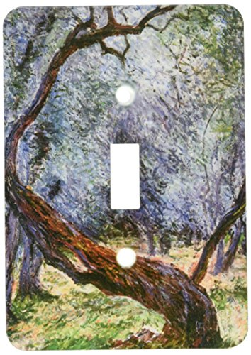 3dRose lsp_126609_1 Study of Olive Trees by Claude Monet, 1884 Light Switch Cover