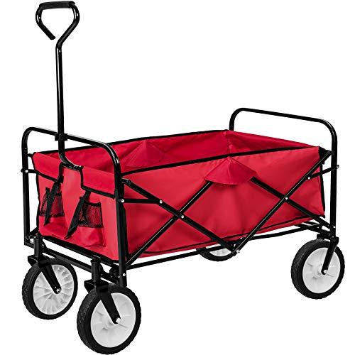 TecTake Chariot de transport à main Remorque de jardin pliable |...