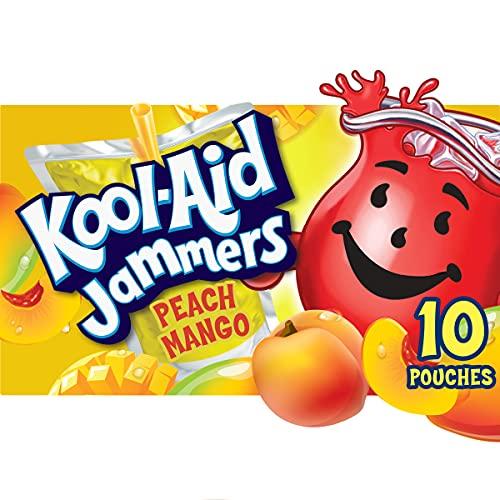 Kool-Aid Jammers Peach Mango Artificially Flavored Soft Drink (10 ct Box, 6 fl oz Pouches)