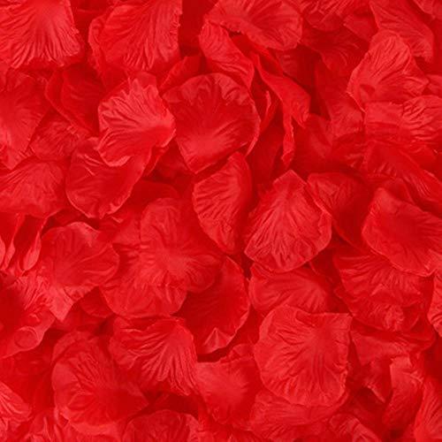 LIMMC 2000 pz/Lotto 5 * 5 cm romantici Petali di Rosa di Seta per la Decorazione di Nozze romantici Petali di Rosa Artificiali Fiore di Cerimonia Nuziale Fiore di Rosa, Come Immagine, 500 pz