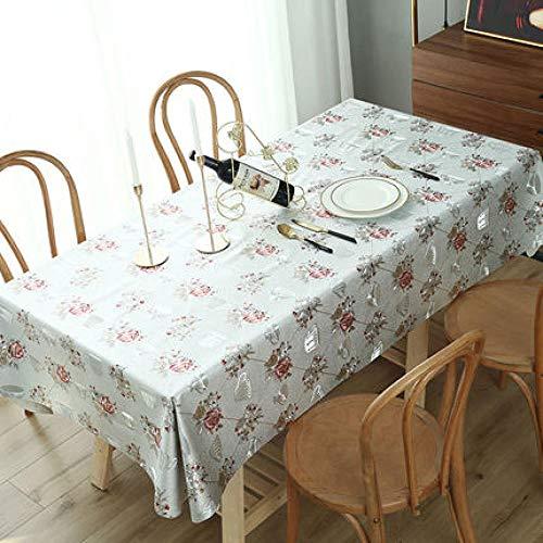 Traann Tafelkleed, waterdicht, langwerpig, rechthoekig tafelkleed, decoratie voor feestjes, bruiloft, rond, rechthoekig tafelkleed, warmte-reliëf 140*200 E