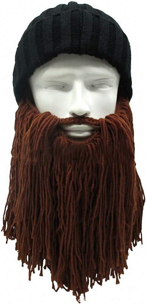 Skullies Beanies Hat Handmade Knitted Crochet Mustache Hat Beard Beanies Face Tassel Bicycle Mask Ski Warm Cap Hat Gift