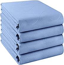 Utopia Bedding Waterproof Incontinence Pads Quilted Washable & Absorbent Bed Pad for Adults and Kids (34 x 52 Inch, Blue)