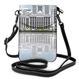 Women Small Cell Phone Purse Crossbody,Springfield Skyline With Buildings Travel Business Tourism Modern Concept