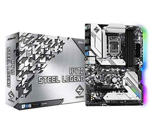 ASROCK H470 Steel Legend Supports 10th Gen Intel Core Processors (Socket 1200) Motherboard
