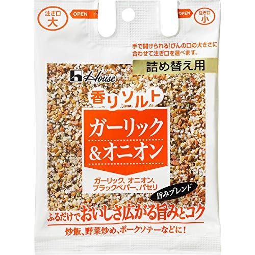 ハウス 香りソルト ガーリック&オニオン 詰め替え用 袋39g