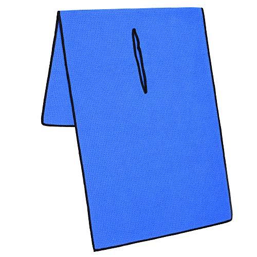 Mile High Life Professionelle Tour Caddy Handtuch, 43,2 x 101,6 cm, mit 20,3 cm Mittelschlitz, Premium-Mikrofaser-Waffelstruktur (14 Farben), blau