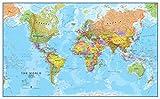 Maps International - Grande carte du monde - Carte du monde politique sous la forme d'une affiche - Laminée – 118,9 x 84,1 cm