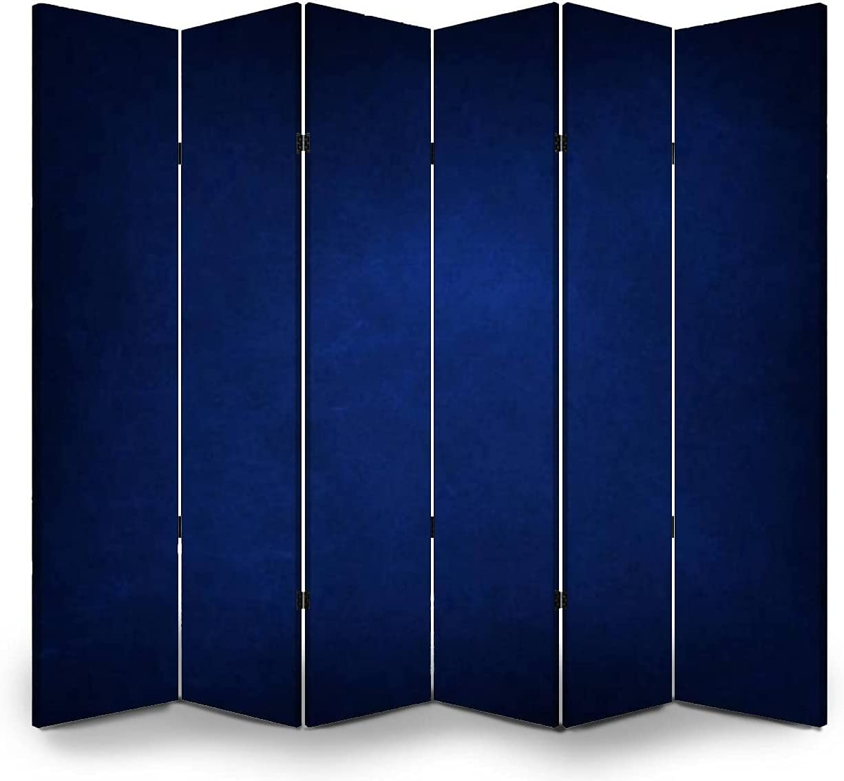 6 Panels Room Divider Screen Houston Mall Partition of Old Oakland Mall Blue Texture Navy