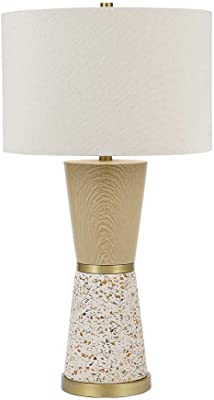 Catalina Lighting 21756-001 Contemporary Faux Wood and Terrazzo Hourglass  Table Lamp fc0cd1347660