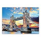 1000 Pieces Jigsaw Puzzles,Puzzles for Adults and Kids,London Bridge Landscape Building Pattern Large Puzzles