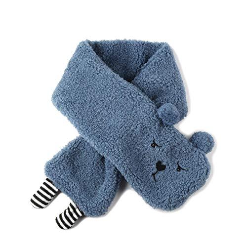 Yanxinejoy winterslabbetjes, sjaal, imitatie lamsvel dikke warme sjaal, koudbestendige schattige sjaal
