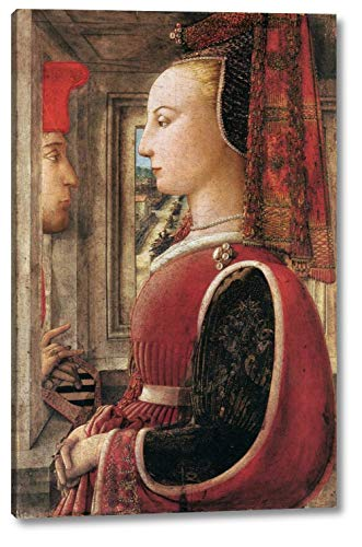 """Portrait of a Man and a Woman by Fra Filippo Lippi - 10"""" x 16"""" Gallery Wrap Canvas Art Print - Ready to Hang"""